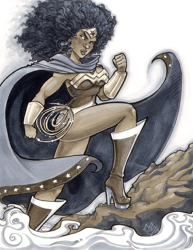 Black Wonder Woman ACen 2014 by ComfortLove