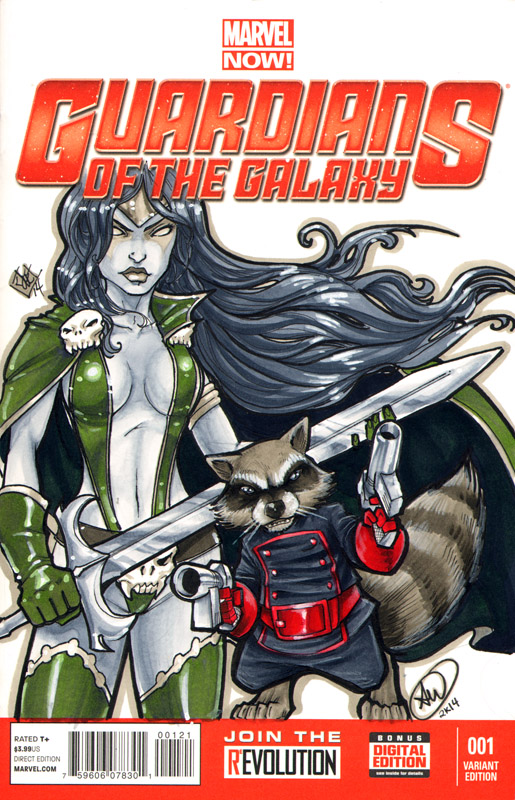 Gamora and Rocket Raccoon C2E2 2014 by ComfortLove