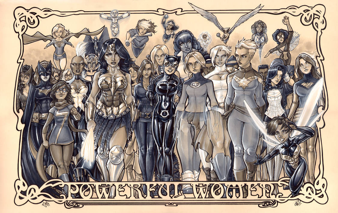 Women of Marvel and DC: Copic marker by ComfortLove
