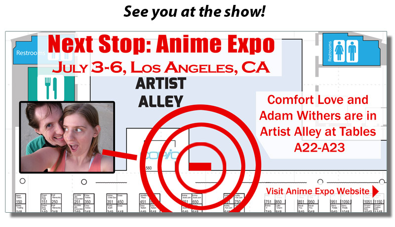 Comfort And Adam Anime Expo placement by ComfortLove