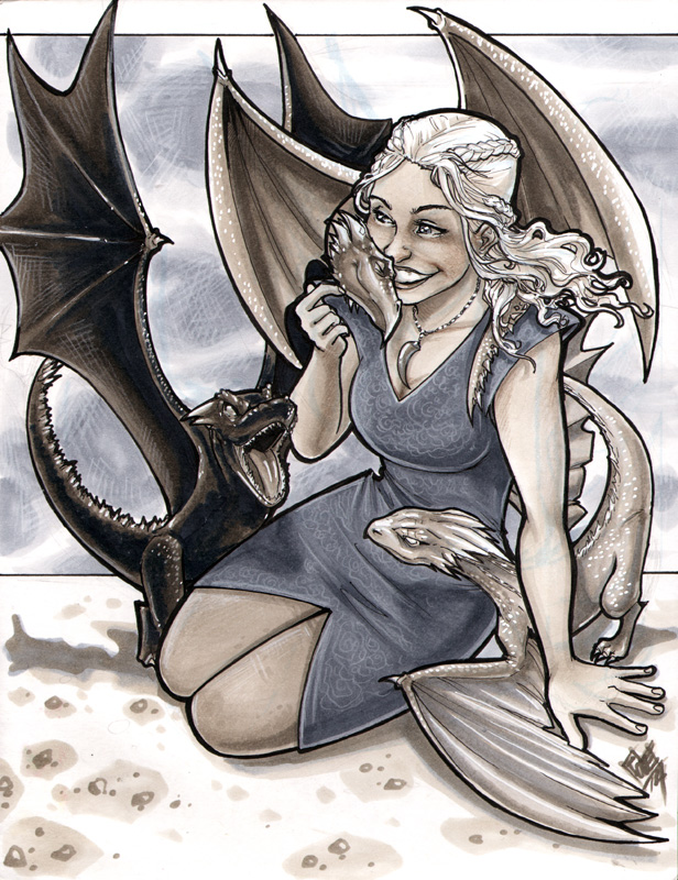 Daenerys And Dragons Youmacon 2014 by ComfortLove