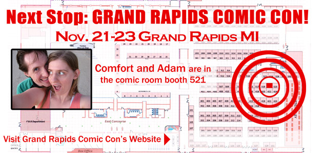 Booth Placement Grand Rapids Comic Con 2014 by ComfortLove