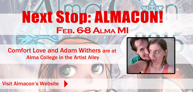 Artist Alley Placement Alma Con 2015 by ComfortLove