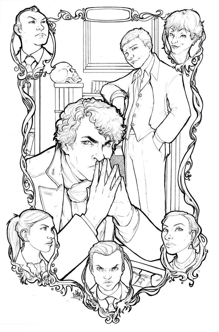 Sherlock lineart by ComfortLove