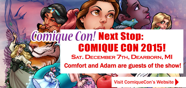 Comfort and Adam AA Placement Comique Con 2015 by ComfortLove