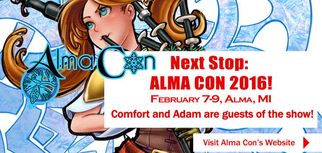 Artist Alley Placement AlmaCon 2016 by ComfortLove