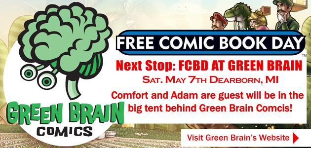 Comfort and Adam Green Brain Comics FCBD 2016 by ComfortLove