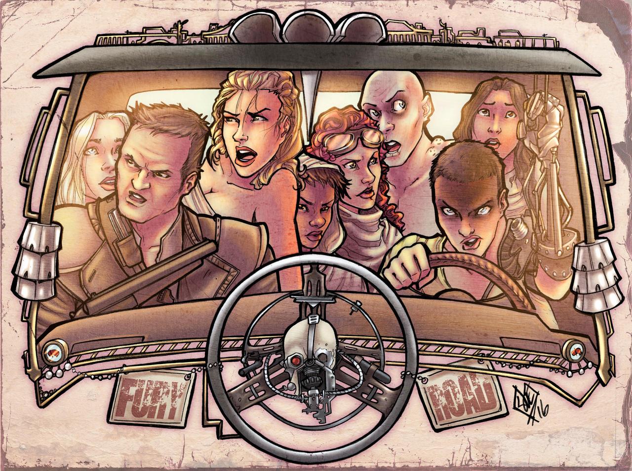 Mad Max Fury Road pin-up