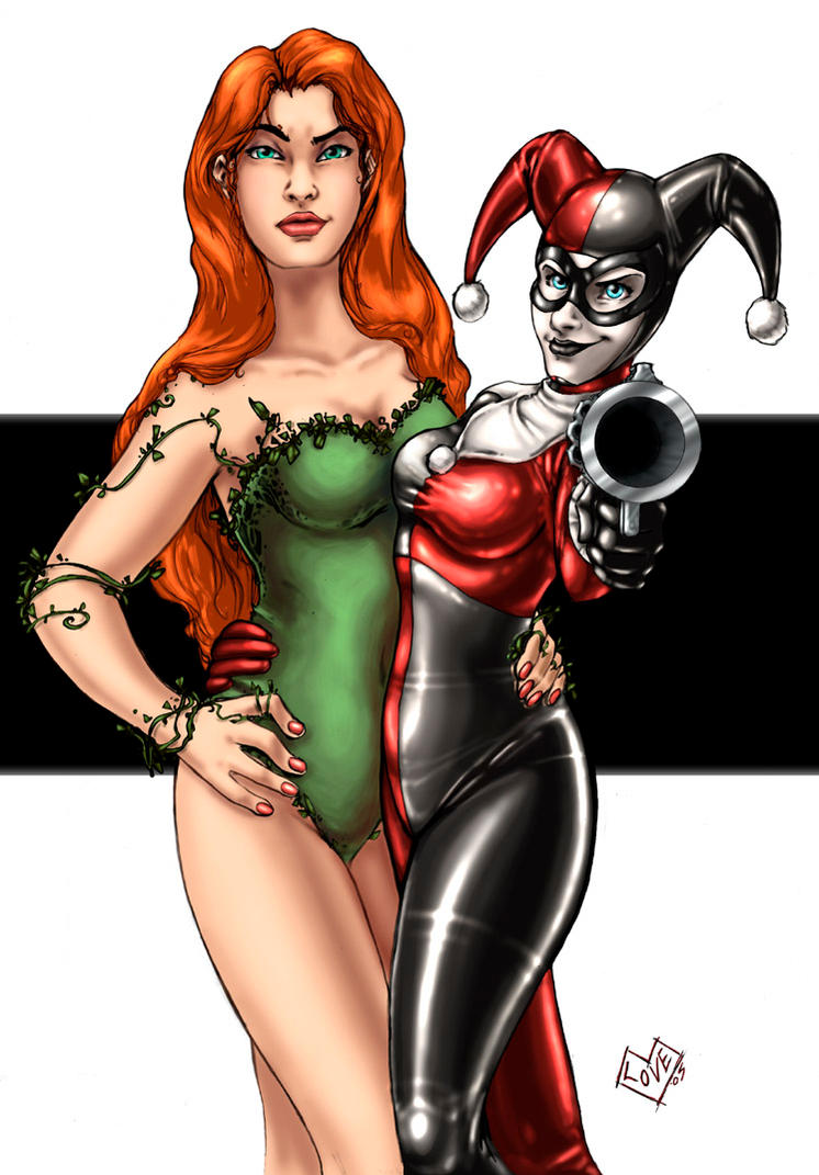 Poison Ivy and Harley Quinn by ComfortLove