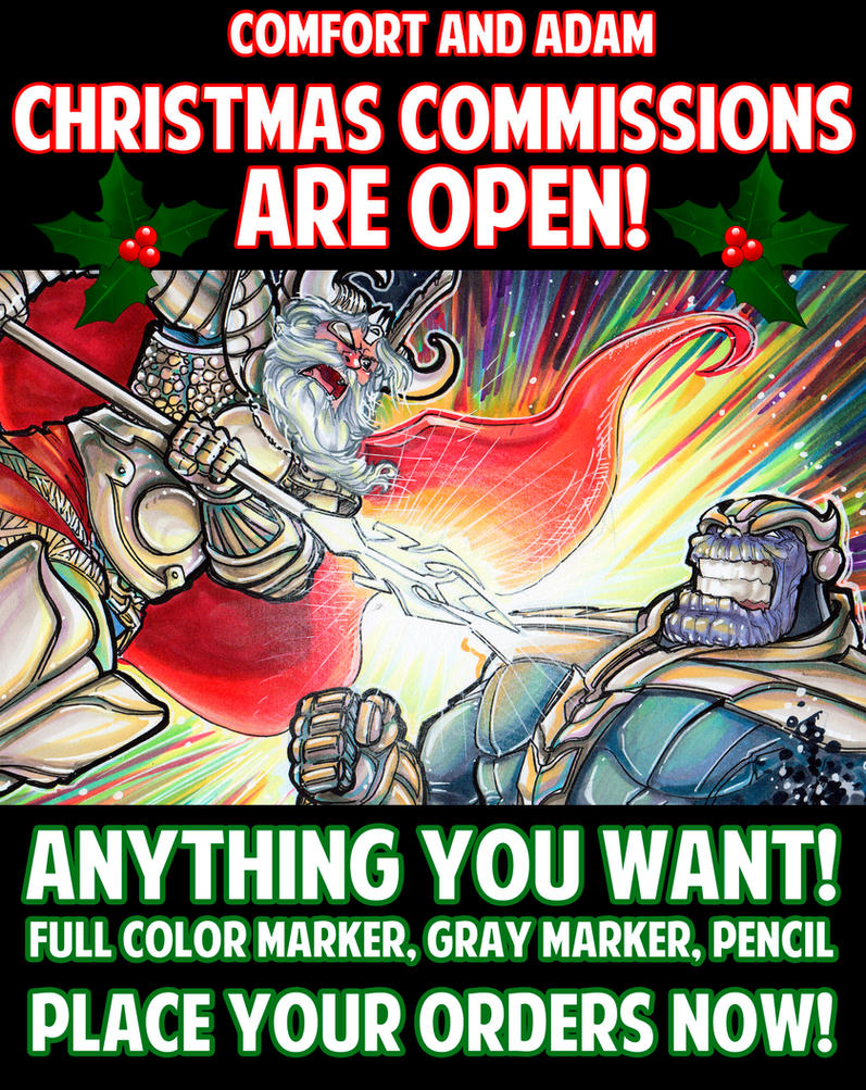 Christmas Commissions are OPEN! by ComfortLove