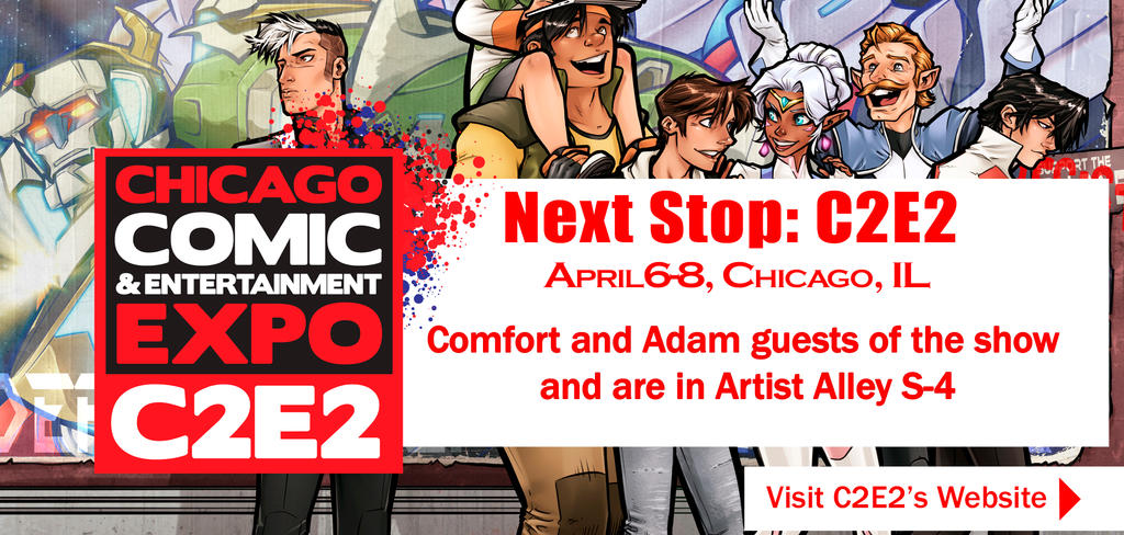 Comfort and Adam: C2E2 2018 by ComfortLove