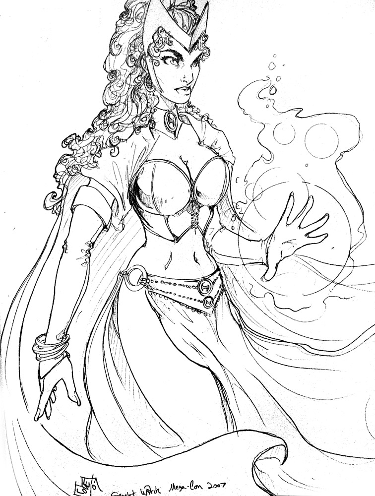 Scarlet Witch Coloring Pages Coloring
