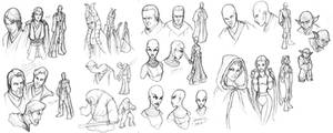 Star Wars Clone Wars sketches
