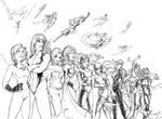 Women of Marvel bw