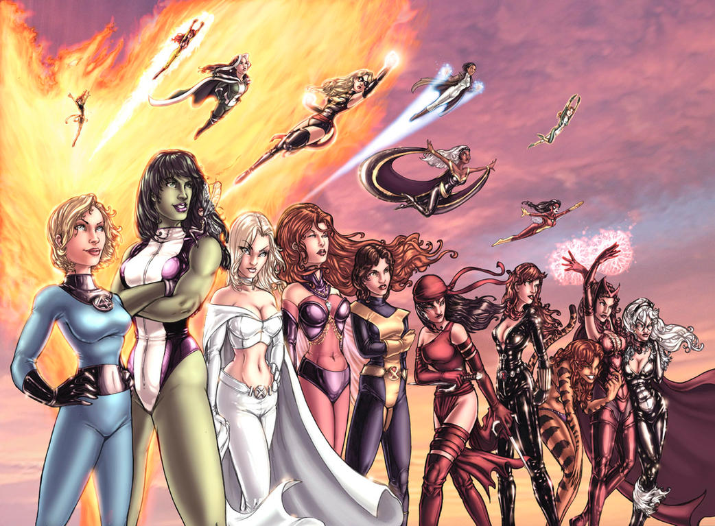 Women of Marvel in Color by ComfortLove