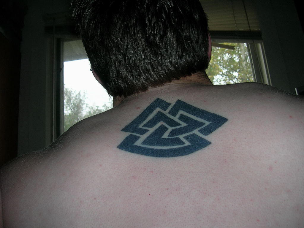 Valknut by shadowfrost on deviantart for Valknut symbol tattoo