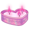 Vday Candle by tomeofbubbies