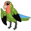 Green Lovebird by tomeofbubbies