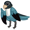 Lovebird Blue by tomeofbubbies