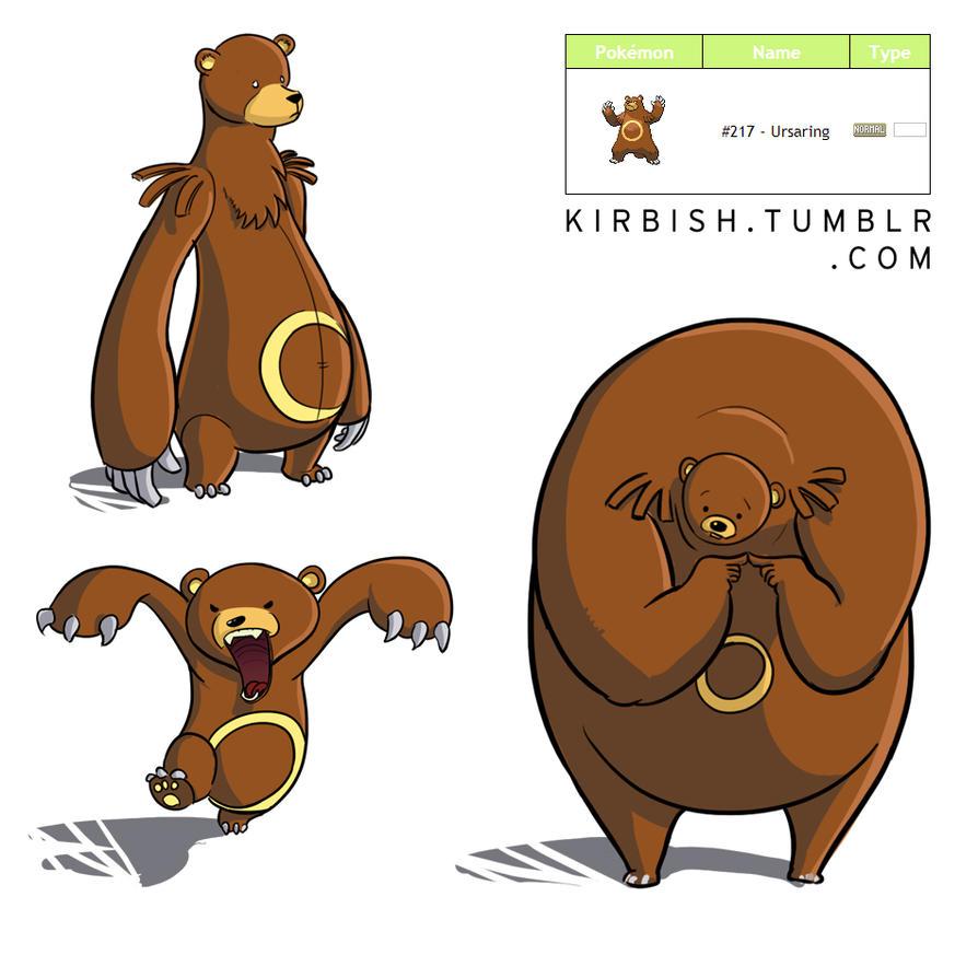 Just awesome Pokémon stuff - Pagina 2 Pokeresdesign___ursaring_by_feloniusmonk-d5tova4