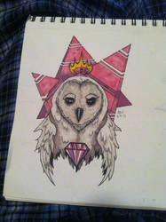 Purple Owl by NotHomeless