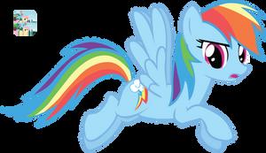 Flying Rainbow Dash Vector