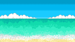 Pixel Shore Background by 44tim44