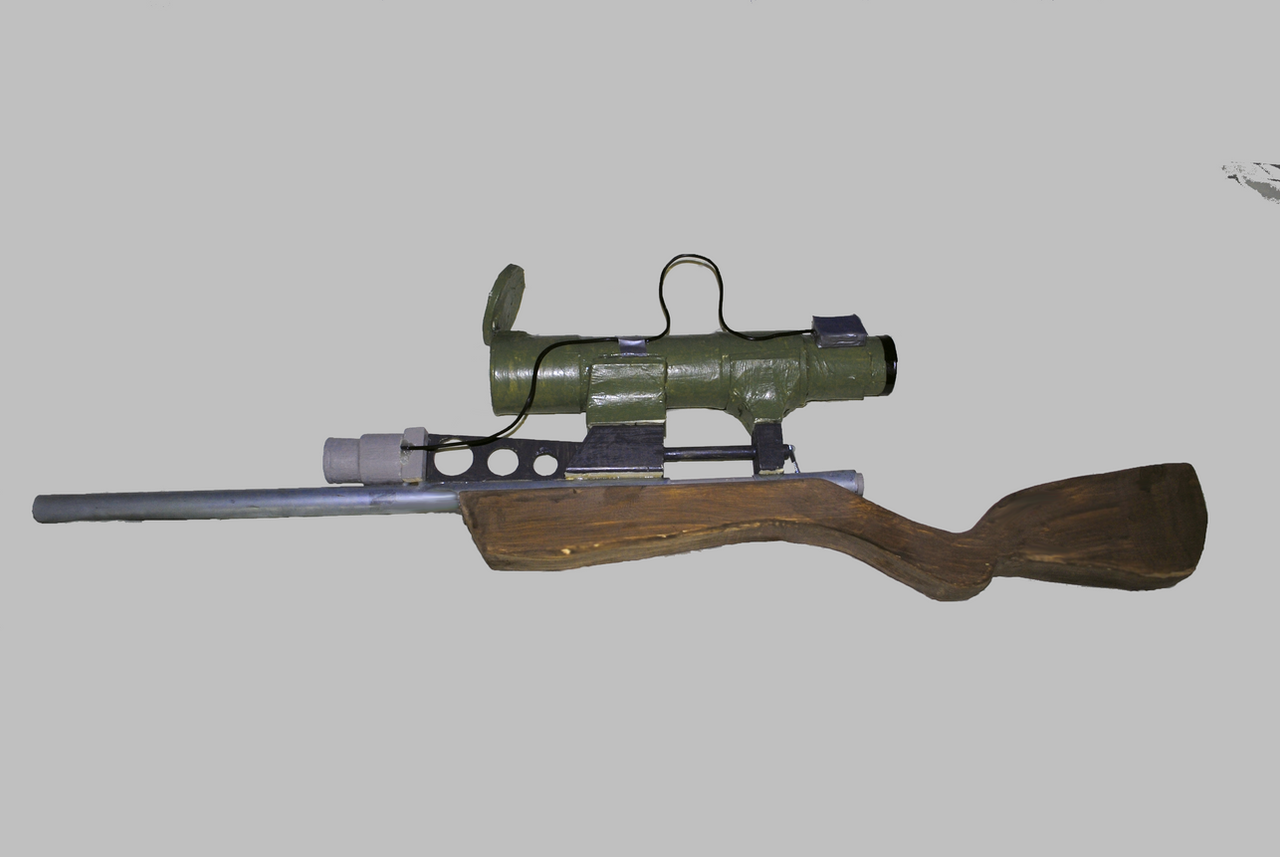 Finished TF2 Sniper Rifle by 44tim44