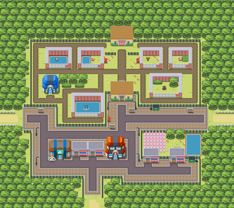 pokemon revolution how to get to fuchsia city