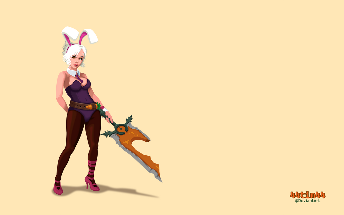 Battle Bunny Riven Wallpaper by 44tim44