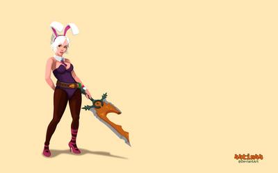 Battle Bunny Riven Wallpaper by 44tim44