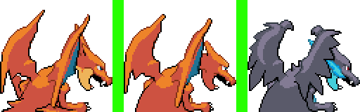 Mega-Charizard Back Sprites by 44tim44