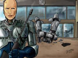 Robocop Alex Murphy vs ED by Silwerra