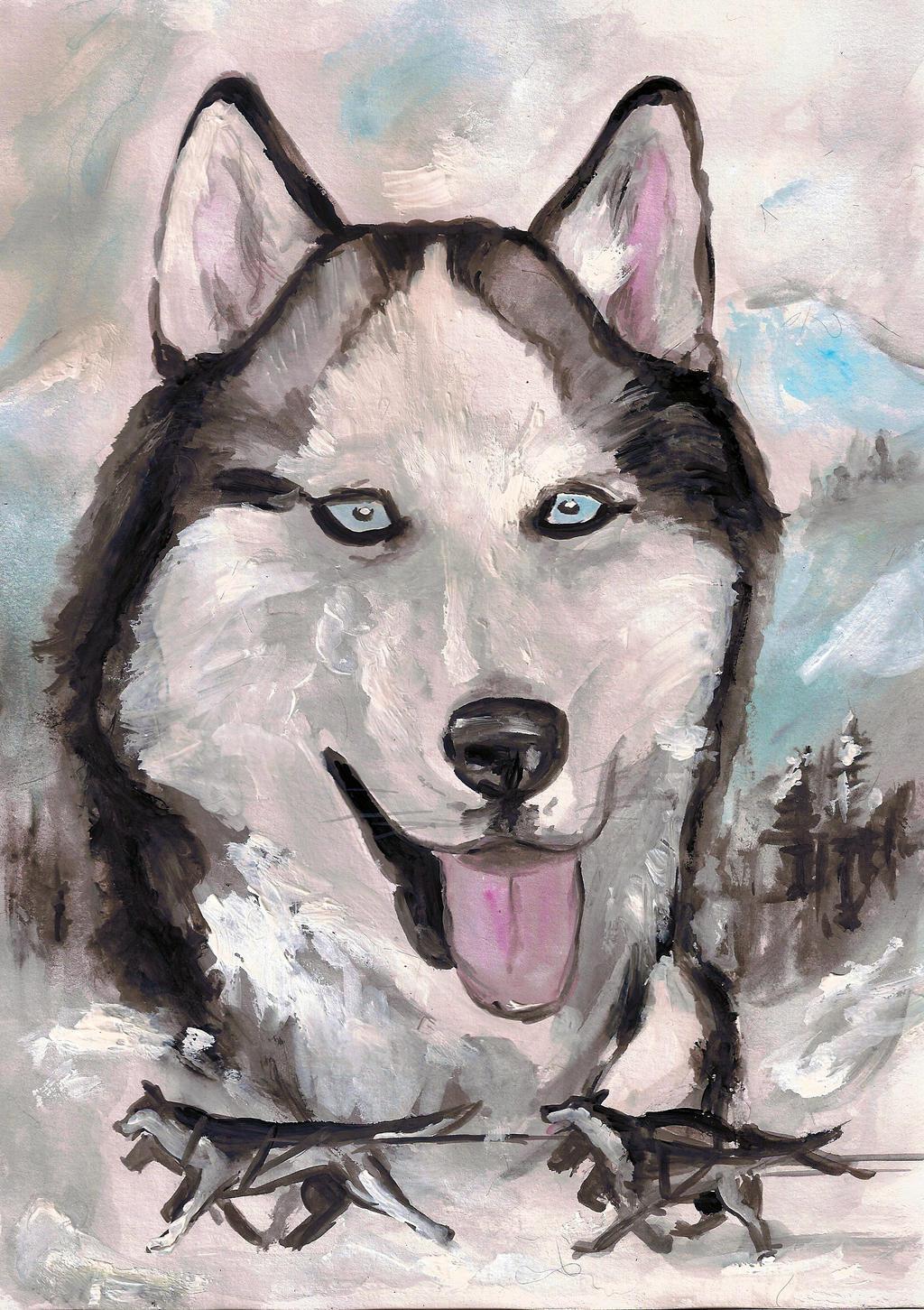 Siberian Husky by Silwerra
