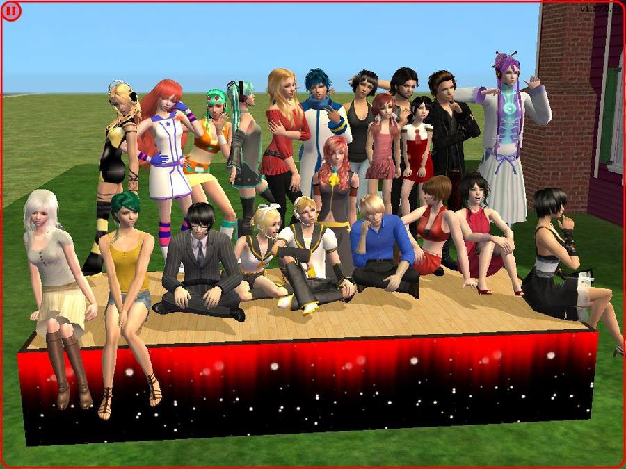 Vocaloid Sims 2 II by BritneyBritofldw