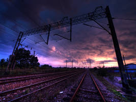 Industrial sunset by kubica