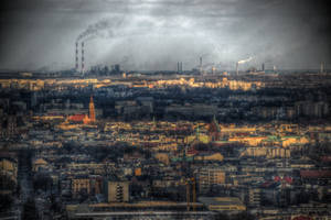 Smog over Cracow by kubica