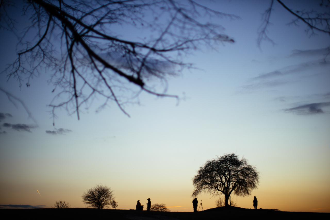 Sunset near Krakus Mound by kubica
