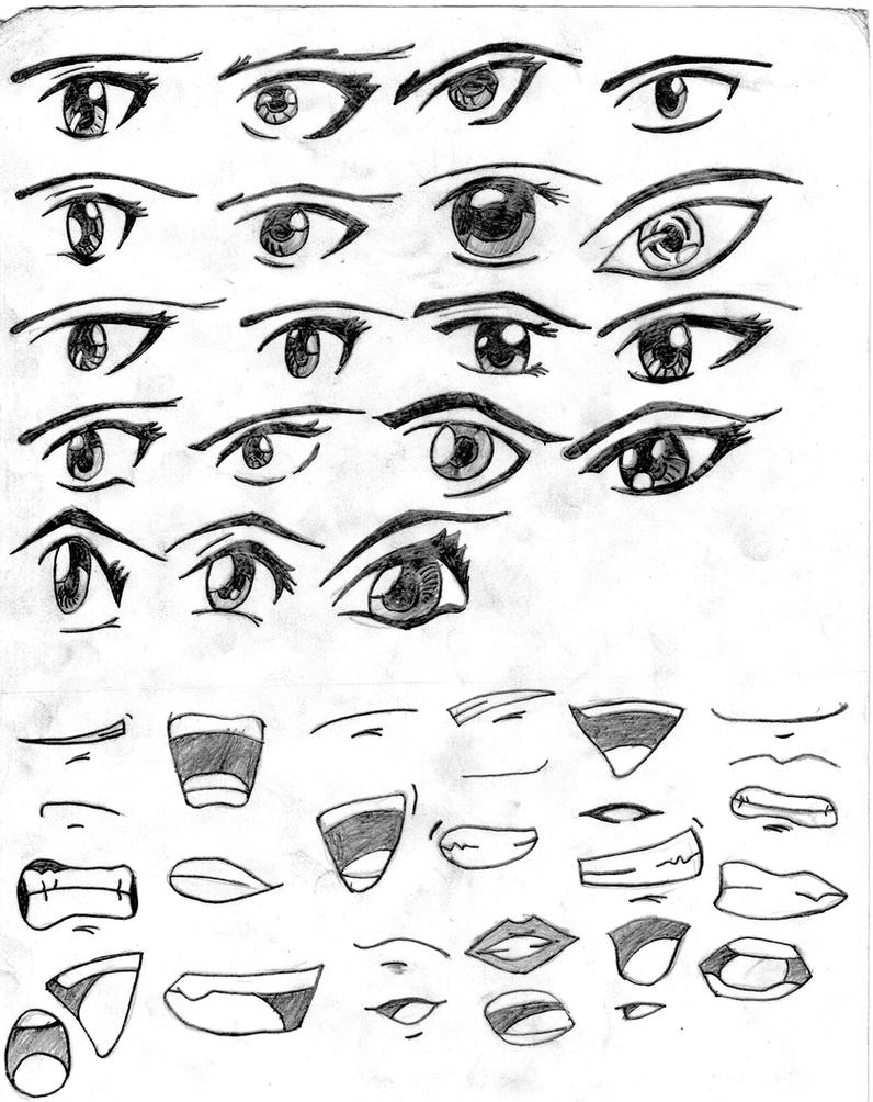 It is a picture of Astounding Different Types Of Eyes Drawing