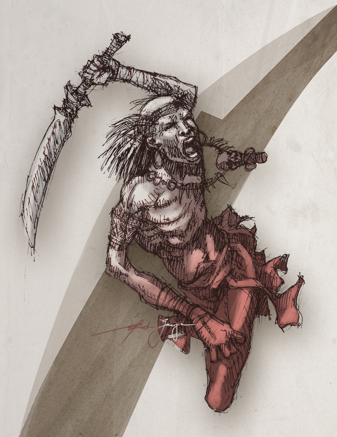 kuja warrior by stealthcache