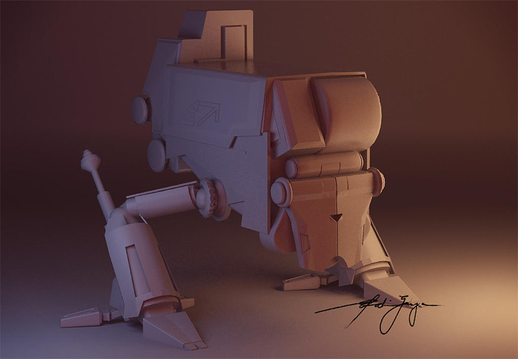 Mecha Leto (clay render) by stealthcache