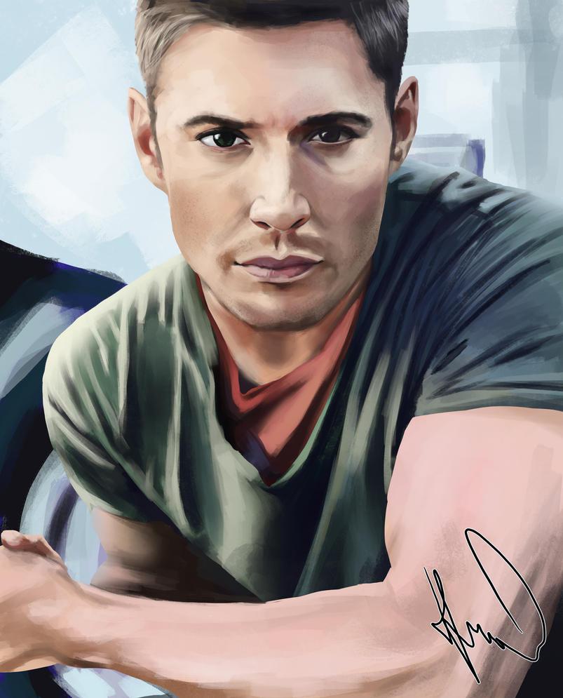 Jensen Ackles (half body) by klice-chan