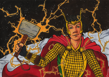 Loki: Worthy of Mjolnir by klice-chan