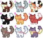 Warrior Cat Chibi Adopts 50 points each