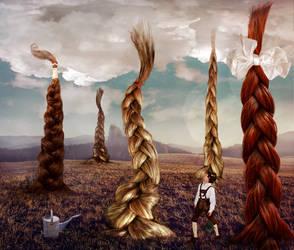 Rapunzel field by EveBlackwood