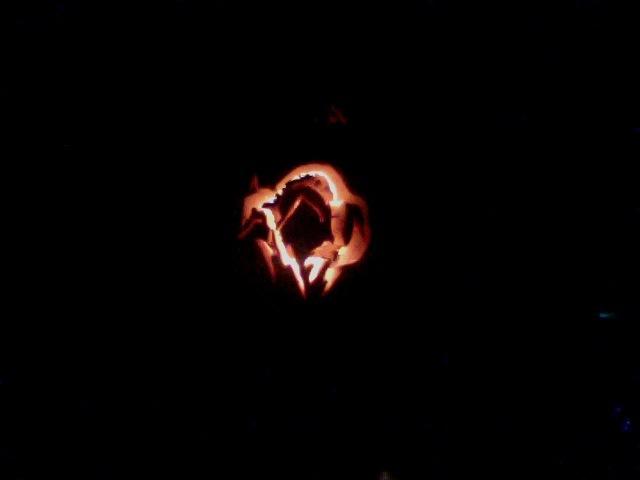 FOXHOUND Logo Pumpkin Carving By Flaredrafire