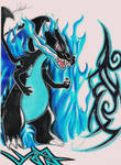 Mega Charizard X by Lobbomorro