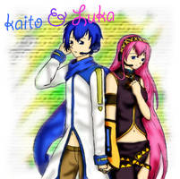 vocaloid - KAITO and Luka by april4luck
