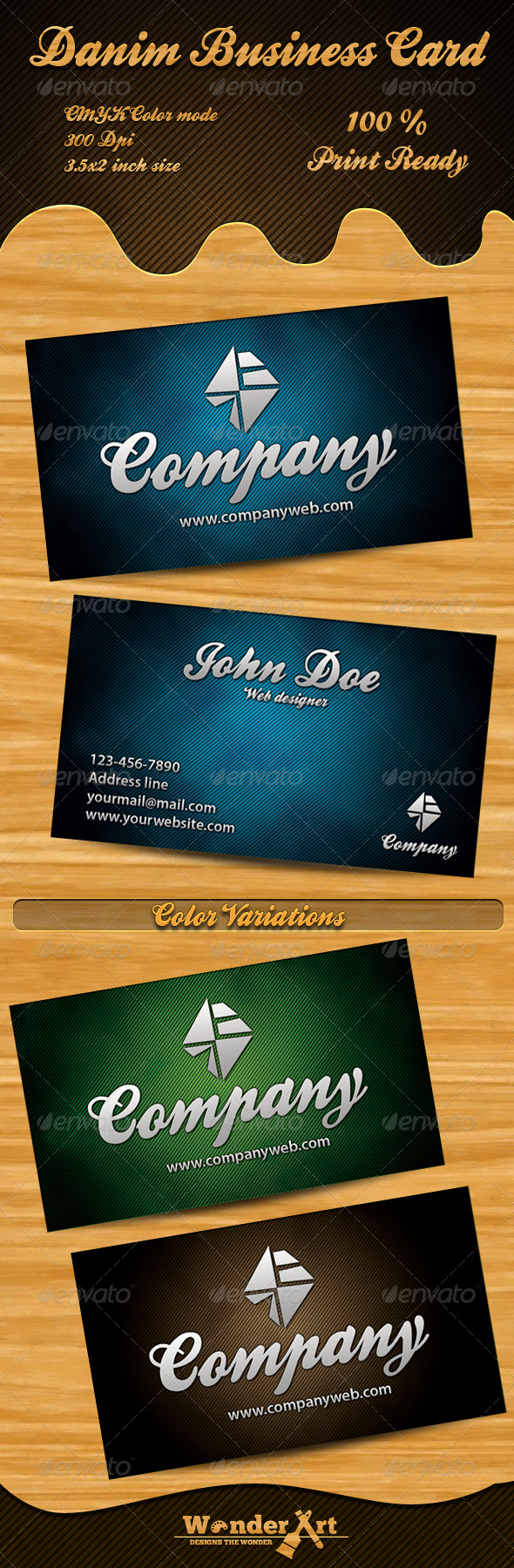 denim business cards