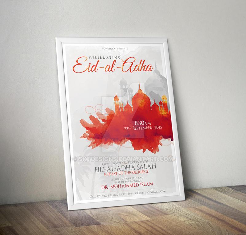 Eid-al-Adha Islamic Celebration Poster/Flyer by sktdesigns
